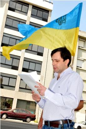 Павло Садоха на мітингу