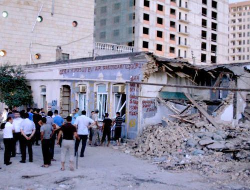 """Снос здания для правозащитников стал полной неожиданностью. Фото сайта """"Кавказский узел"""""""