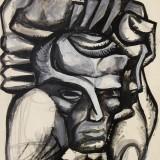Борис Антоненко-Давидович, 1963,картон, гуаш, 30х23
