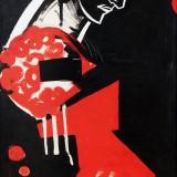 Василь Симоненко, 1964 папір,темпера, 111х47