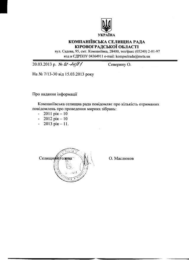 Компаніївка-39-2012