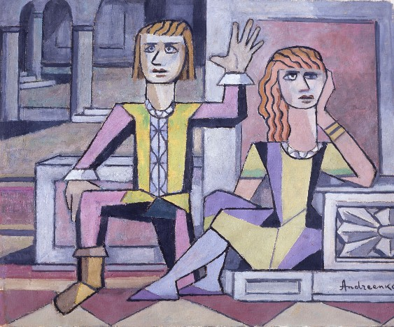 B22 3 AndriienkoNechytailo Mykhailo Young Couple in a Castle 1972