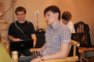 Дмитро Дробот і Дмитро Пилипець (зліва)