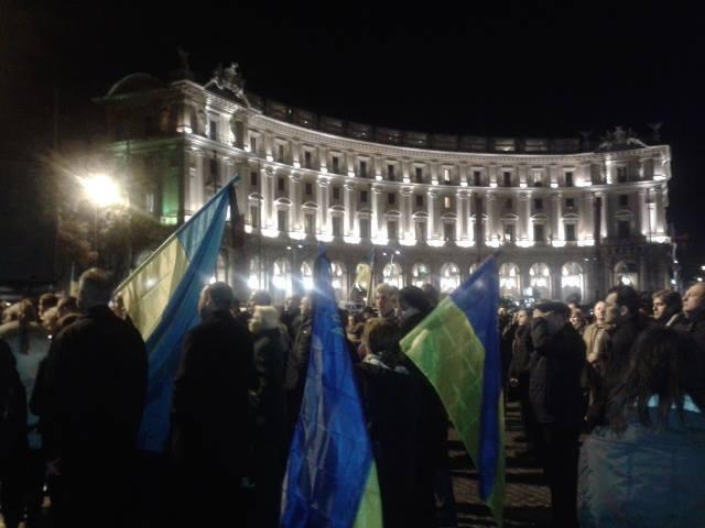 РИМ, після вшанування пам'яті жертв Голодомору, вся українська громада висловилася за підтримку євроінтеграційного курсу України