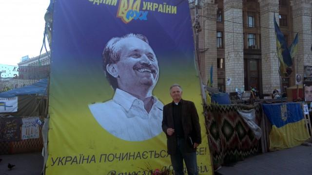 Збігнев Буяк на Майдані Незаленості в Києві. Він добре знав Вячеслава Чорновола.