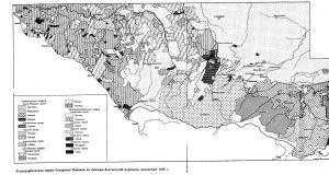 Этнографическая карта Северного Кавказа