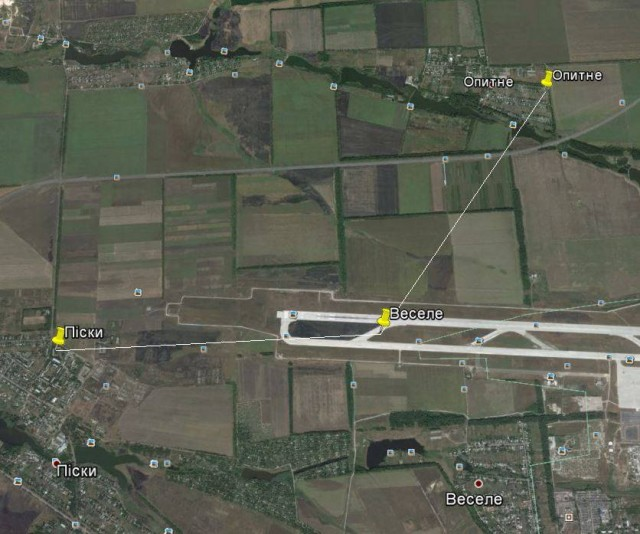 Карта точок лінії розмежування із точними координатами.Автор: Павло Славинський.