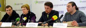М.О. Височин на прес-конференції
