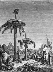 Страта колесуванням, яка застосовувалася до козаків і мешканців Ладижина