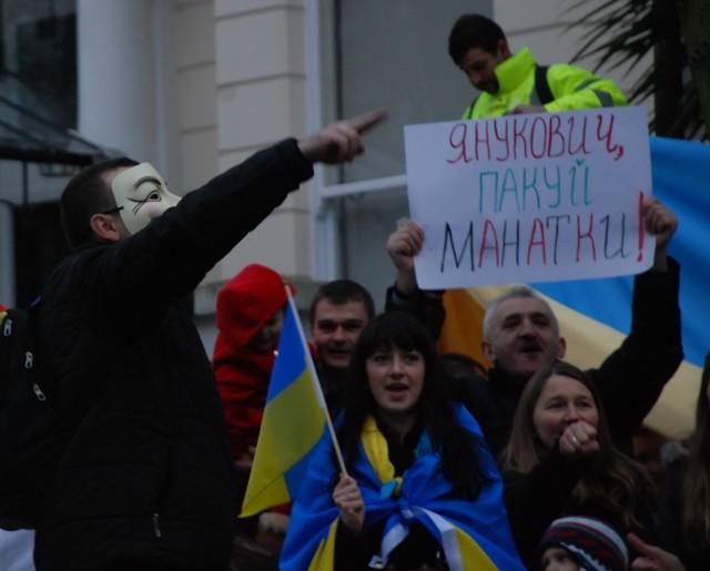 Фото з Євромайдану в Лондоні. Фотограф - Олександра Ковязіна