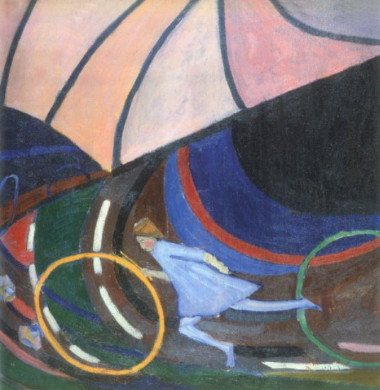 E36 4 Bohomazov Oleksander_Girl with a Hoop (1913)