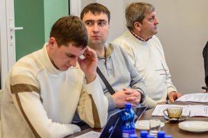 Євген Шаповалов на лекції, НІК, Польща