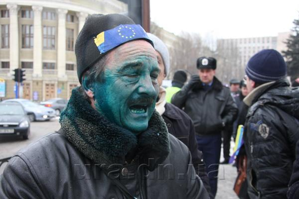 Donetsk, January, Activist of EuroMaidan Donetsk after attack of gangsters Photo by pauluskp.livejournal.com