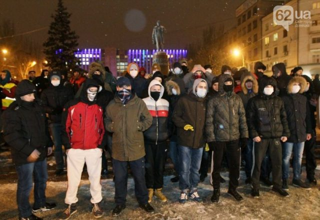 Donetsk, January 23, 2014 Donetsk ultras protect Euromaidan. Photo by novosti.dn.ua