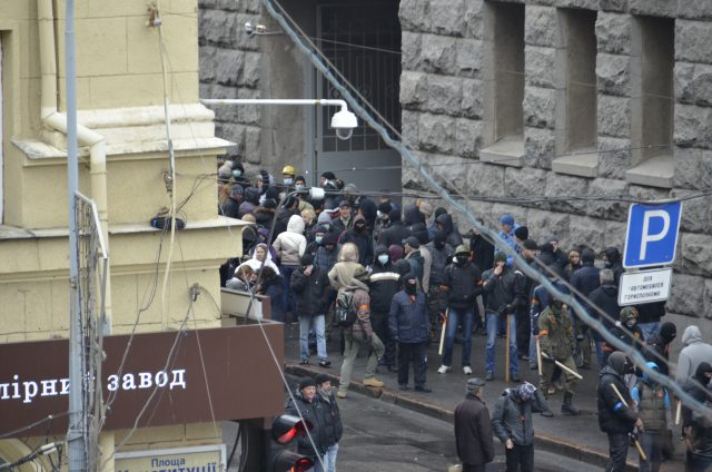 Kharkiv April 13, 2014, anti-Maidan attempts to occupy the city hall.