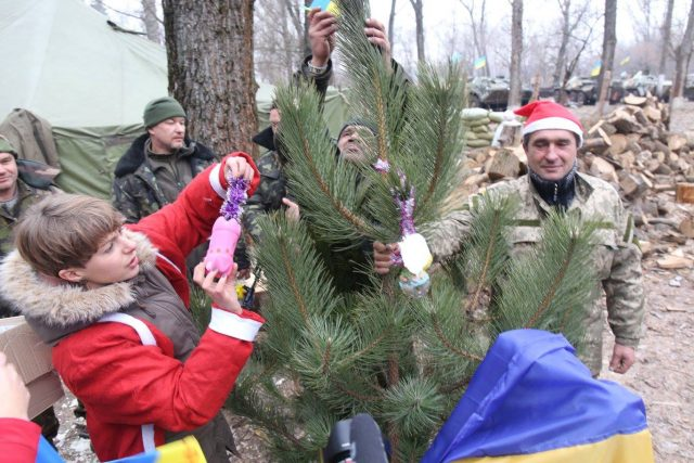 December 28, 2014 Help Army volunteers brings presents for 92 Brigade in Lugansk region Photo by Leonid Logvineno